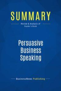 Persuasive Business Speaking