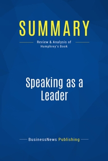 Speaking as a Leader