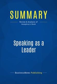 Speaking as a Leader