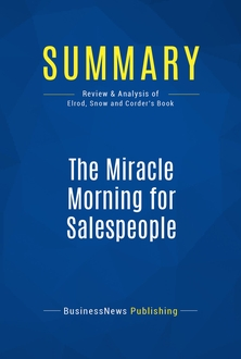 The Miracle Morning for Salespeople